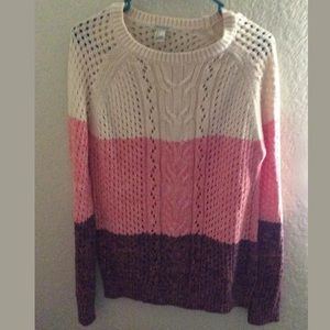 Forever 21 Colorblock Sweater Size Large